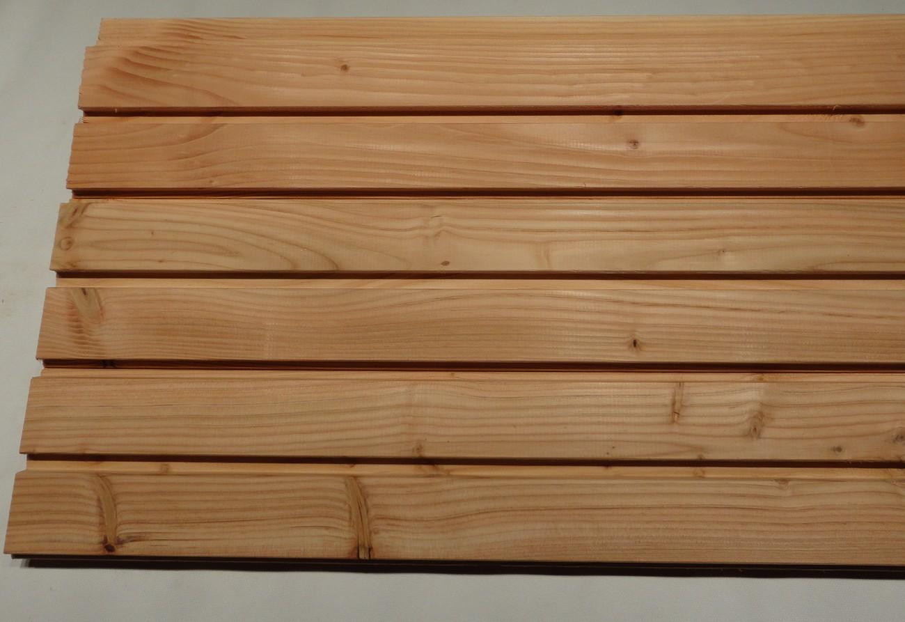 bardage douglas faux claire voie 28x120 var et bois. Black Bedroom Furniture Sets. Home Design Ideas