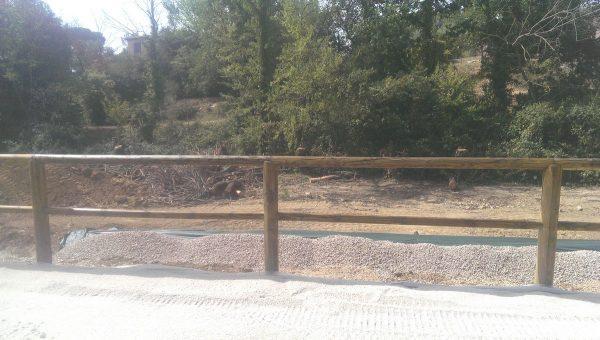 clôture pour chevaux main courante lisse