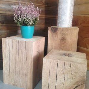 cubes en chêne / déco