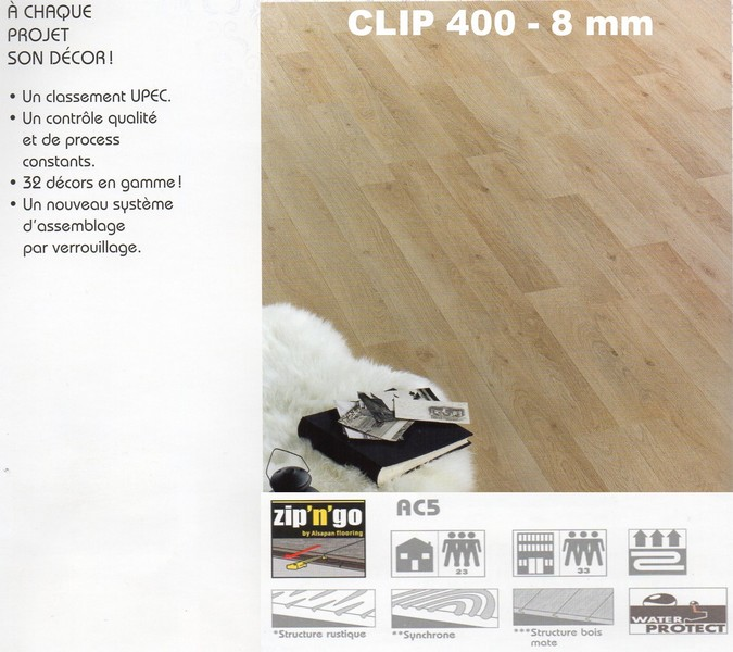 parquet flottant clip 400 var et bois. Black Bedroom Furniture Sets. Home Design Ideas