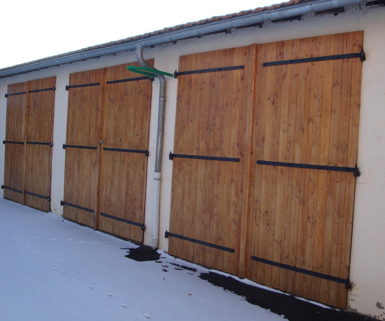 Lames volets en douglas var et bois - Porte de garage 5m ...