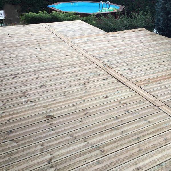 lames de terrasse pin vert 2ème choix