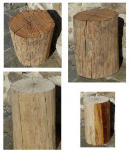 rondins en chêne ou peuplier