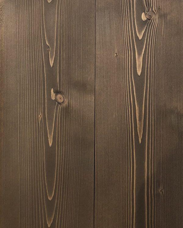 lambris sdn brossé peint marron vieilli